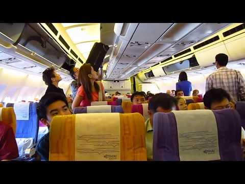 ภายในเครื่องบินการบินไทย