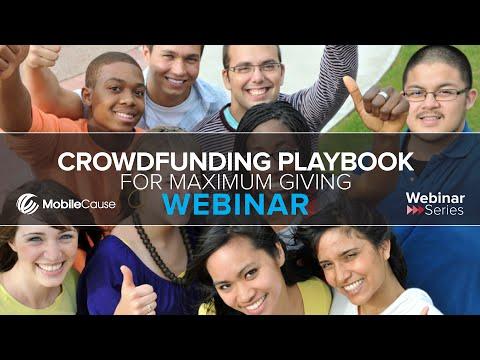 Crowdfunding Playbook for Maximum Giving Webinar
