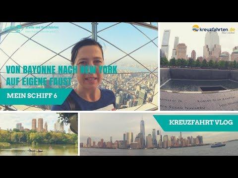 Von Bayonne nach New York auf eigene Faust & Abreise - (Mein Schiff 6 Vlog 10)