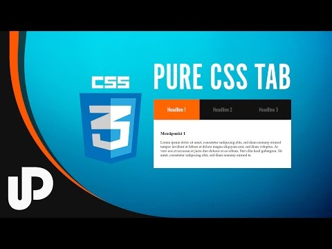 Pure CSS Tab Menu Selber Bauen! [Tutorial]