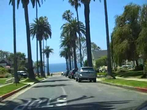 Crusing through Pacific Palisades on gorgeous summer day - Видео онлайн
