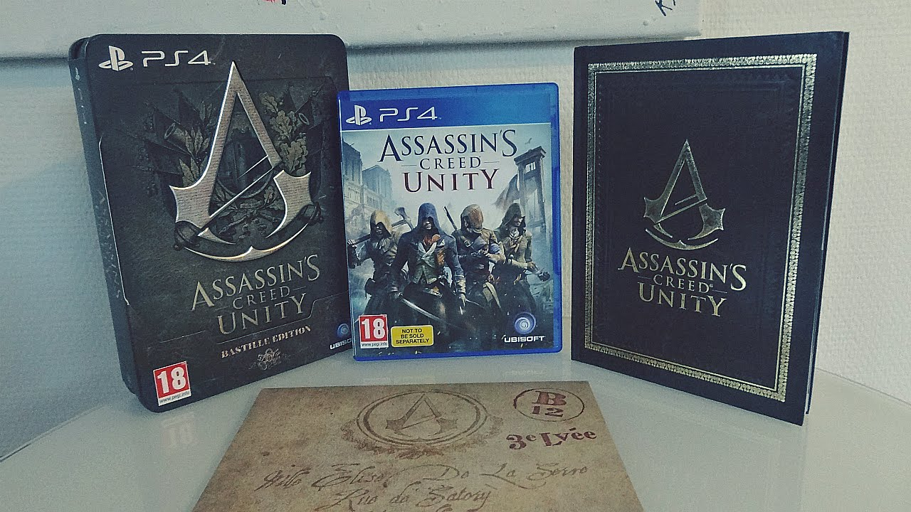 Unboxing Assassin's Creed Unity Bastille Edition [PS4 ...