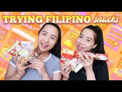 Trying Filipino Snacks! | The Caleon Twins