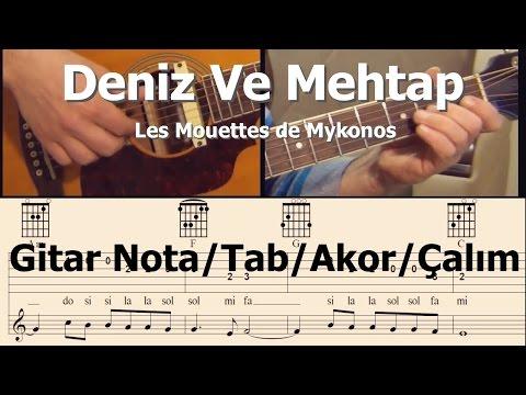 Deniz Ve Mehtap Tanju Okan-Fecri Ebcioğlu-Gitar Nota/Tab/Akor/Çalım (seviye 1)