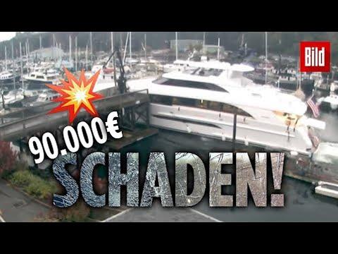 Luxusyacht rast in mehrere Boote!
