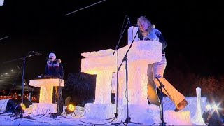 Chill Musicians Play Concert With Instruments Made From Ice thumbnail