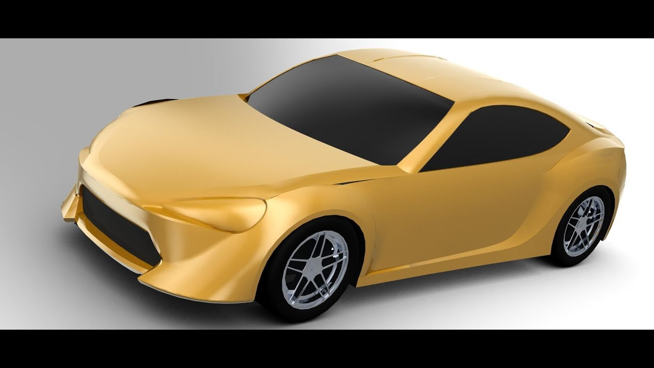 Creo Car Tutorial Toyota 86 - Part 1 Drawing 3D Curves ...