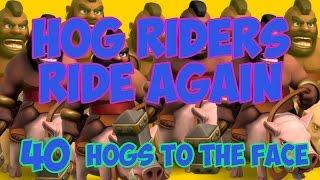 Hog Riders Ride Again - Mass Hog Attacks - Clash Of Clans HOG RIDER EVENT!!