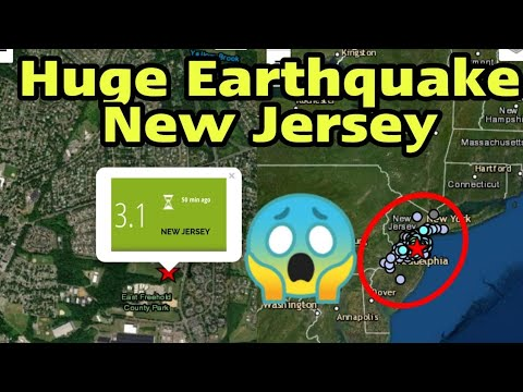 New Jersey earthquake: Thousands terrified by 'rare' quake in early hours from YouTube · Duration:  1 minutes 18 seconds