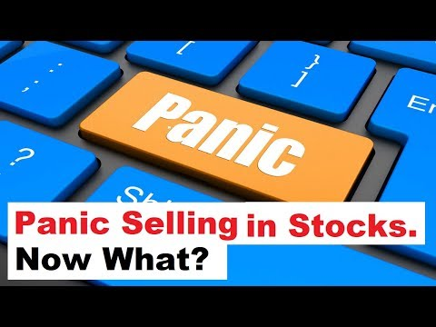 Panic Selling in the Stock Markets... Now what?