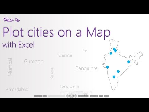 How To Plot Cities On A Map Using Excel YouTube - Plot cities on a map