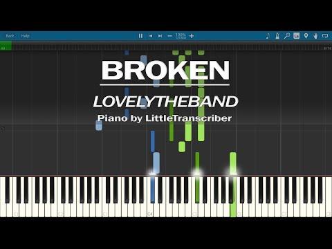 lovelytheband - broken (Piano Cover) Synthesia Tutorial by LittleTranscriber