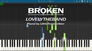 lovelytheband - broken (Piano Cover) Synthesia Tutorial by LittleTranscriber Video