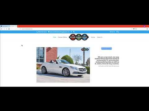 TaylorMobileDetail com Designed by 22 Frames Media LLC Jacksonville FL Web Design