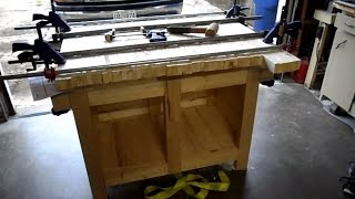 Gluing Up The Table Top Of My Workbench