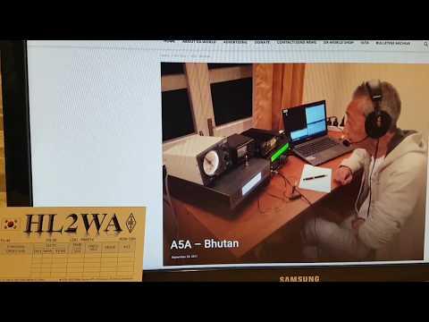 A5A, Bhutan ASIA, 18MHz, SSB, Worked by HL2WA