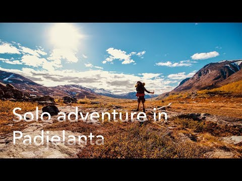 Solo adventure in Padjelanta hiking and packrafting Sweden
