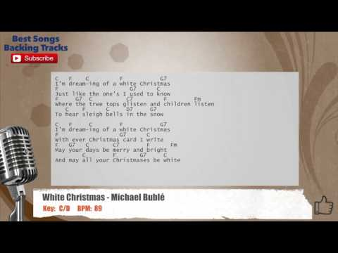 White Christmas - Michael Buble Vocal Backing Track with chords and lyrics