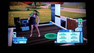 Juliet Simms dancing Sims 3 Pets