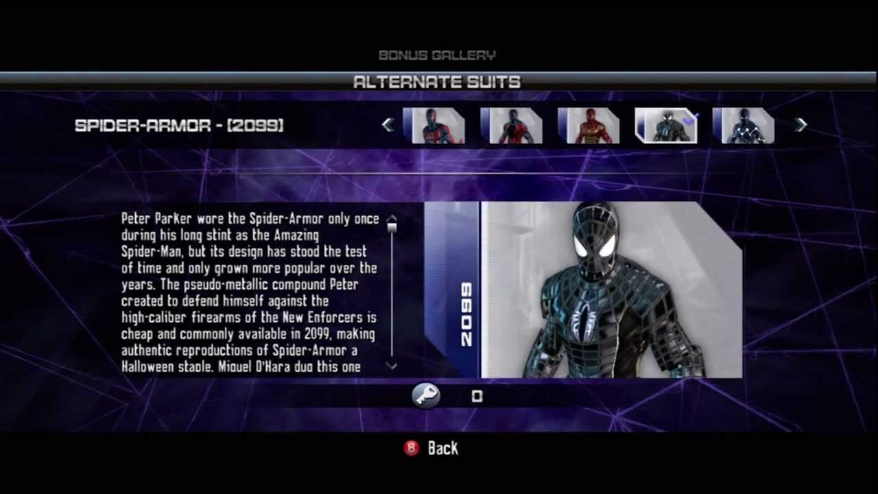 spider man web of shadows how to change costumes pc