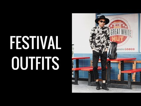 MUSIC FESTIVAL OUTFITS FOR GUYS  3 OUTFITS  PERFECT FOR COACHELLA  OTR NO 4