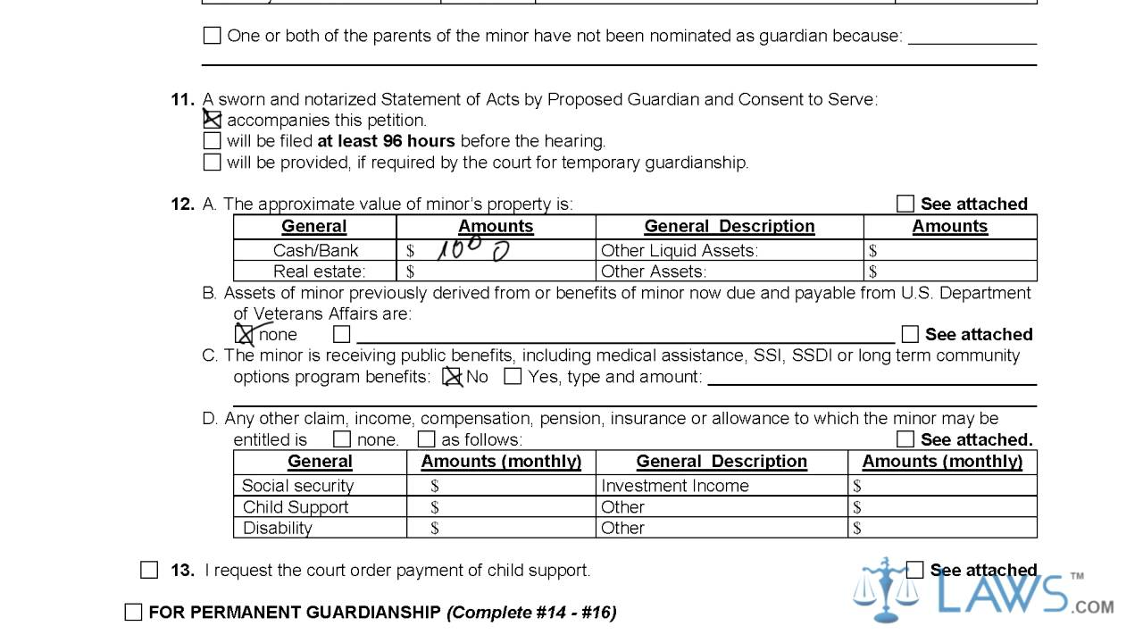 Petition for Temporary or Permanent Guardianship of Minor GN 3290 – Temporary Guardianship Forms