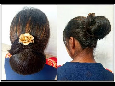 Juda hairstyle easy summer bun hair style girl simple Juda wedding juda bridal Juda - YouTube