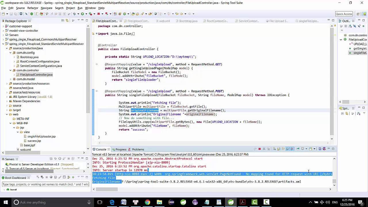 Spring MVC file Upload Example
