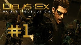 ►Deus Ex: Human Revolution || #1 || HODINKOVÁ PREMIÉRA || CZ Letsplay / Gameplay [HD] [PC]