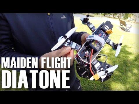 Diatone FPV Mini H-Quadcopter Flight Maiden Test Flight & Build Review
