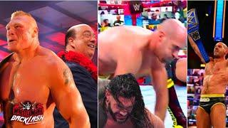 WWE WrestleMania Backlash 2021 Cesaro Winning Universal Championship from Roman Brock RETURNS