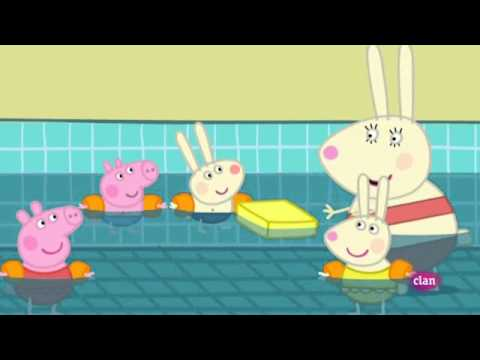 Peppa pig en la piscina youtube for Peppa pig en piscina