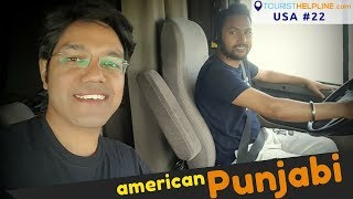 AMERICAN COUNTRYSIDE with PUNJABI TRUCKER | Beautiful Village and Farms