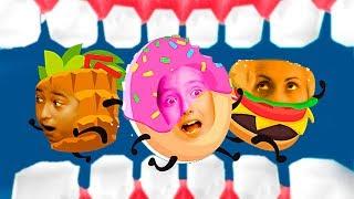 Катя и Ростя Спасают Еду - Побег в игре мультик Silly Walks от Мы Играем