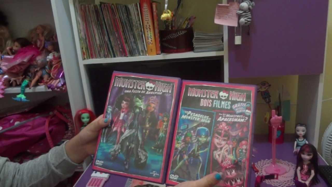 Meu quarto e presentes Monster High  YouTube