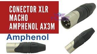 Conector - Plug - Xlr Macho Amphenol Ax3m
