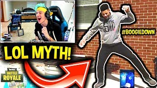 Video NINJA REACTS TO MYTH & CDNTHE3RD'S DANCE MOVES!! IT'S LIT! #BoogieDown Fortnite Contest (FUNNY) download MP3, 3GP, MP4, WEBM, AVI, FLV Mei 2018