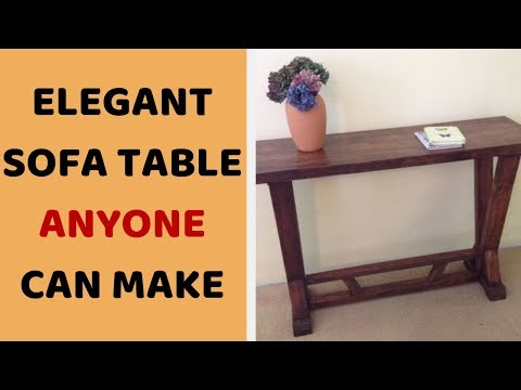 Sofa Table DIY - Woodworking Sofa Table Plans
