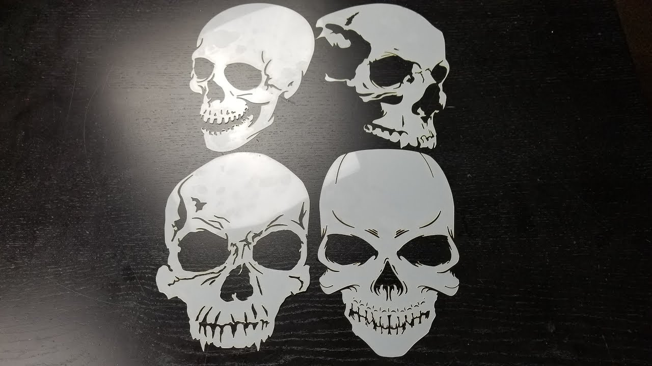 skull stencil series how to airbrush better with templates youtube