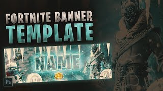 Fortnite Banner Template [ + PHOTOSHOP FREE DOWNLOAD ]