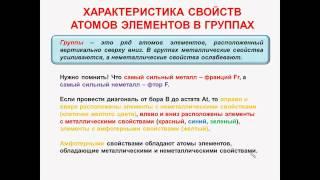№18.Неорганическая химия. Тема3.Периодический закон. Часть5.Характеристика свойств атомов элементов