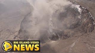 Kilauea Volcano Summit Change Observed (June 1, 2018)