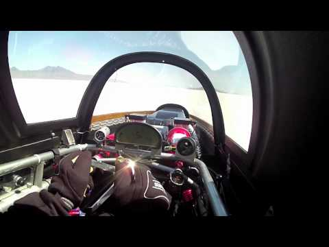Speed Demon 426 mph Run - Cockpit View