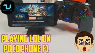 Pocophone F1 LOL Gameplay/PC Game League of Legends on Android smartphone 2018