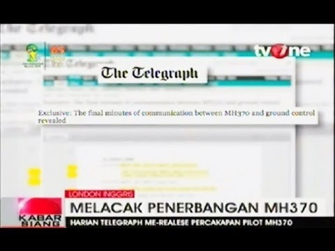 Berita Terkini Percakapan Pilot Malaysia Airlines MH370