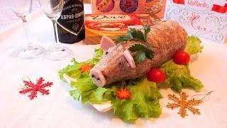 Вкусный холодец из свиной рульки и курицы студень свиной  рецепт