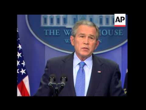 President Bush says he's withholding judgment on the destruction of CIA interrogation tapes until pe