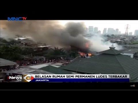 Belasan Rumah Semi Permanen Ludes Terbakar Di Mampang, Jakarta Selatan - LIP 07/06