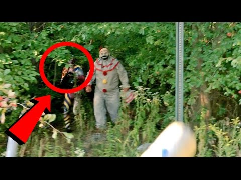 Top 10 SCARIEST Clown Sightings Caught on Video (Scary Clown Videos)