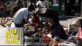 Street side vendors in Mysore - Karnataka
